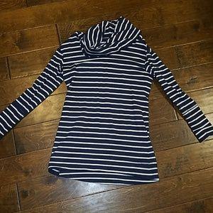 Merona navy striped tunic medium
